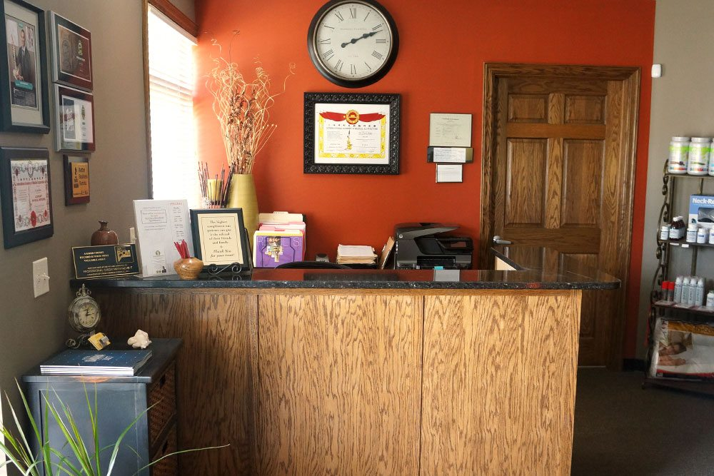 Front desk at Balanced Body Acupuncture & Chiropractic in Omaha, NE