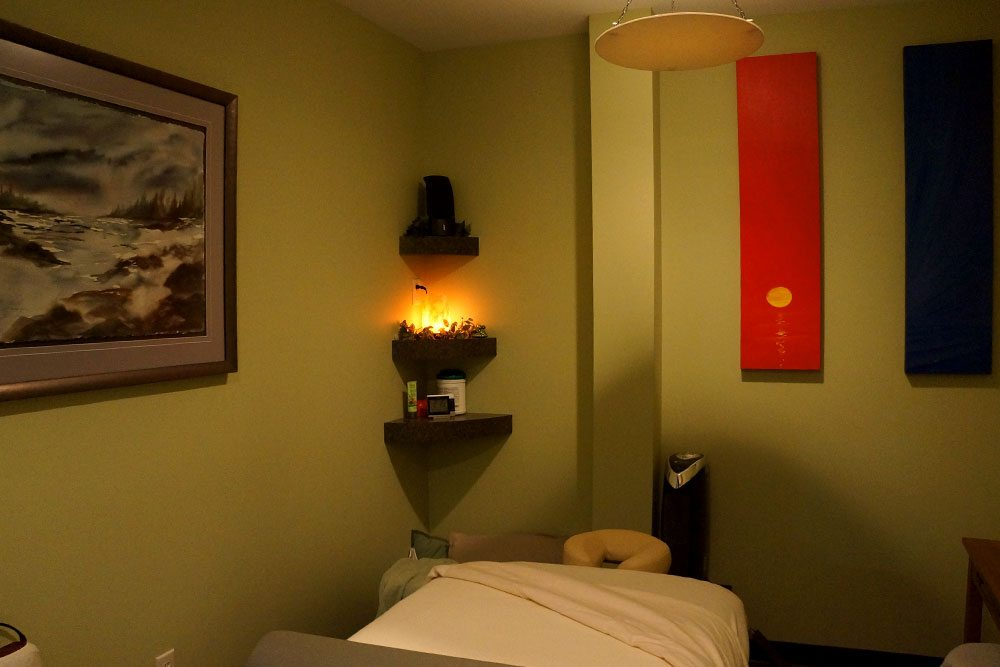 Green room at Balanced Body Acupuncture & Chiropractic in Omaha, NE