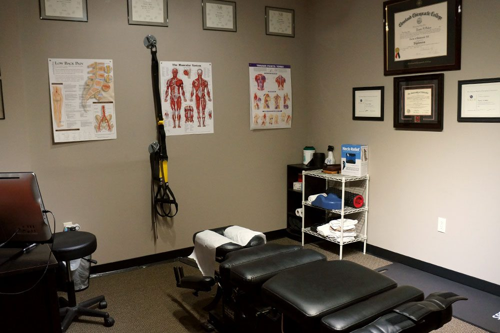 Tan patient room at Balanced Body Acupuncture & Chiropractic in Omaha, NE